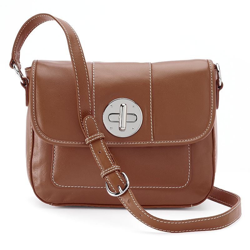 ili Leather Flap Front Crossbody Bag