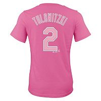 Girls 7-16 Majestic Colorado Rockies Troy Tulowitzki Player Name and Number Tee