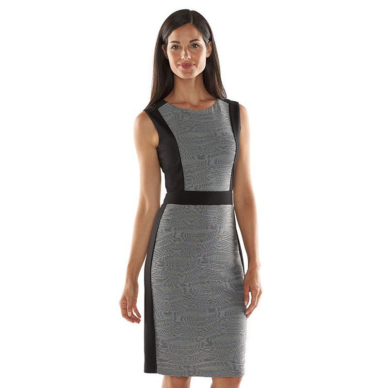 Dana Buchman Textured Ponte Sheath Dress - Women's
