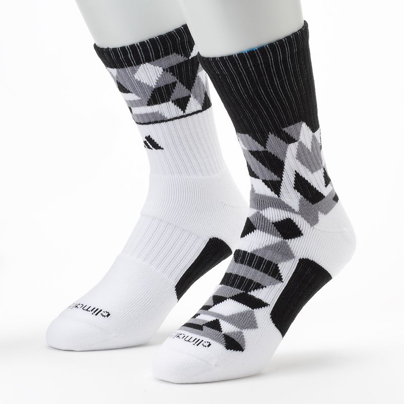 Men's adidas 2-pack ClimaLite Energy Camo Crew Socks