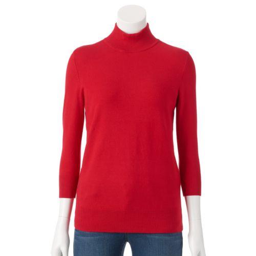 Women's Apt. 9® Ribbed Mockneck Sweater