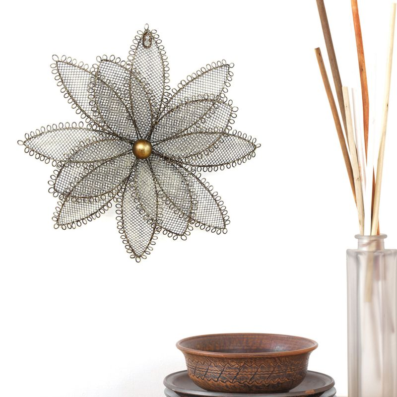 stratton home decor wire flower wall decor farmhouse style wire decor the everyday home