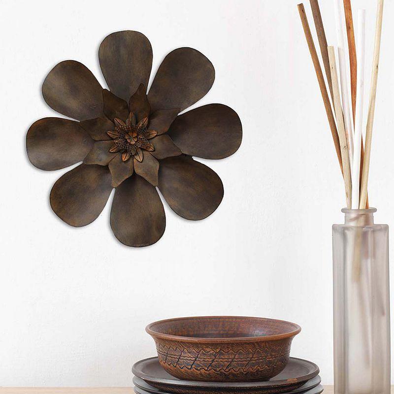 Brown flower wall decor kohls : Stratton home decor espresso flower wall brown