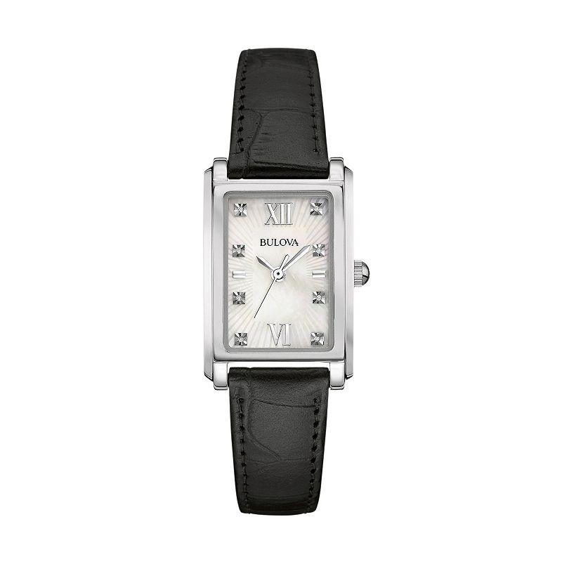 Bulova Women's Diamond Leather Watch - 96P156