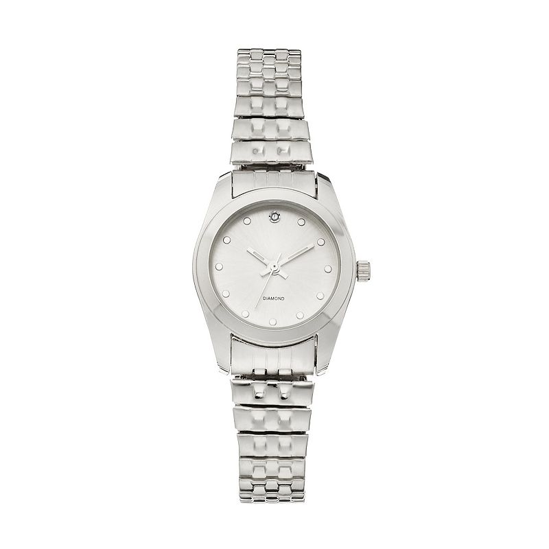 Women's Diamond Stainless Steel Expansion Watch