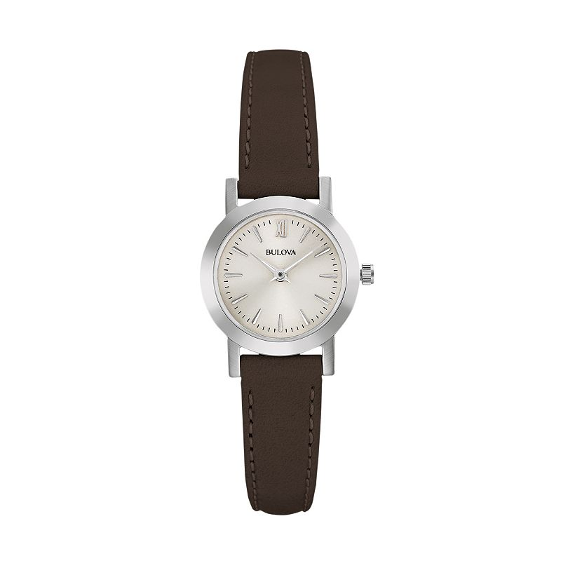 Bulova women 39 s classic leather watch 96l210 for Watches kohls
