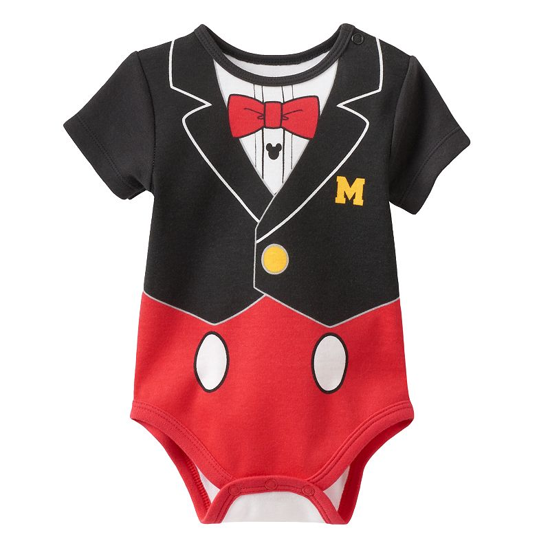 Disney's Mickey Mouse Short Sleeve Tuxedo Bodysuit - Baby Boy