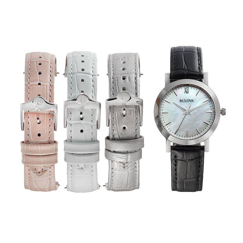 Bulova Women's Leather Watch Set - 96X132