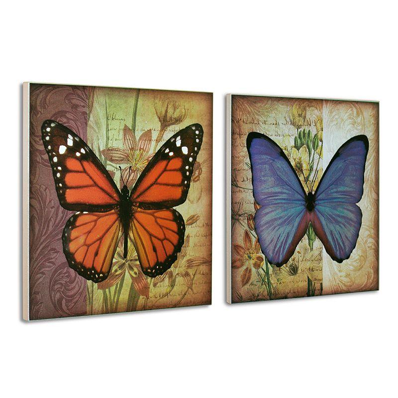 Head West 2-piece Wood Butterfly Wall Decor Set