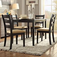 HomeVance 5-piece Larson Ladder Back Dining Set by