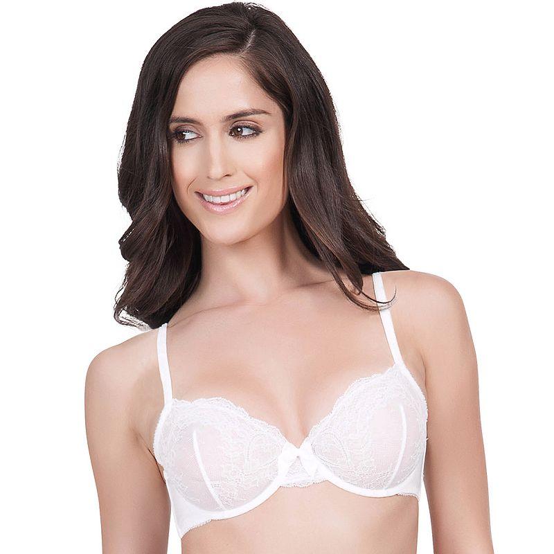 Affinitas Bra: Pearl Unlined Lace Bra A1042 - Women's