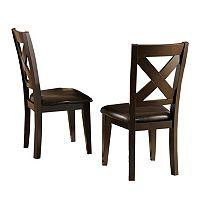 HomeVance 2-piece Glenmark X-Back Side Chair Set