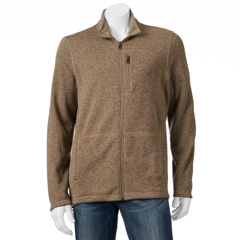 Big & Tall Croft & Barrow® Solid Full-Zip Heathered Jacket