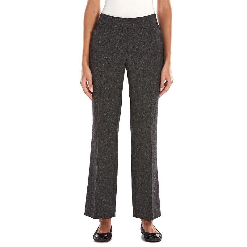 Dana Buchman Tweed Curvy Fit Straight-Leg Dress Pants - Women's