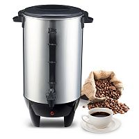 Elite Cuisine Stainless Steel 30-Cup Coffee Urn