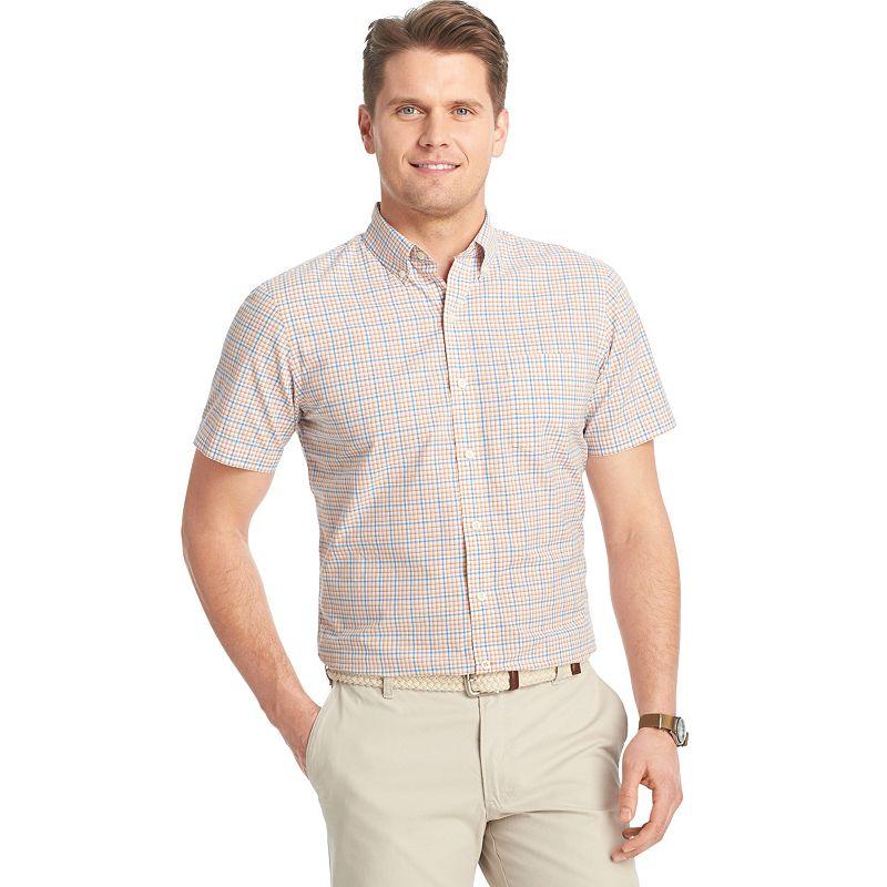 Big & Tall IZOD Classic-Fit Plaid Poplin Casual Button-Down Shirt