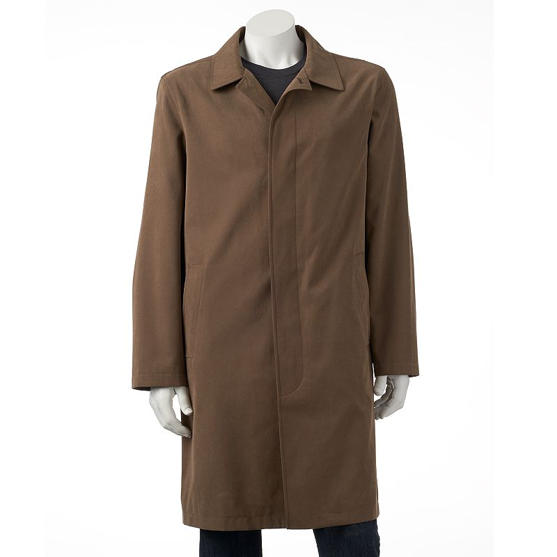 Men's Towne by London Fog Raised Twill Rain Coat