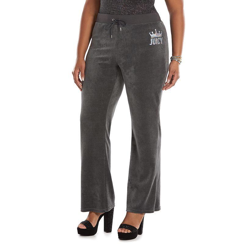 Plus Size Juicy Couture Bootcut Velour Pants