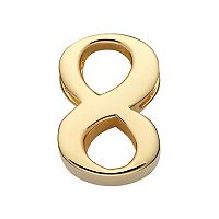 Sweet Sentiments 14k Gold Over Silver Number Charm