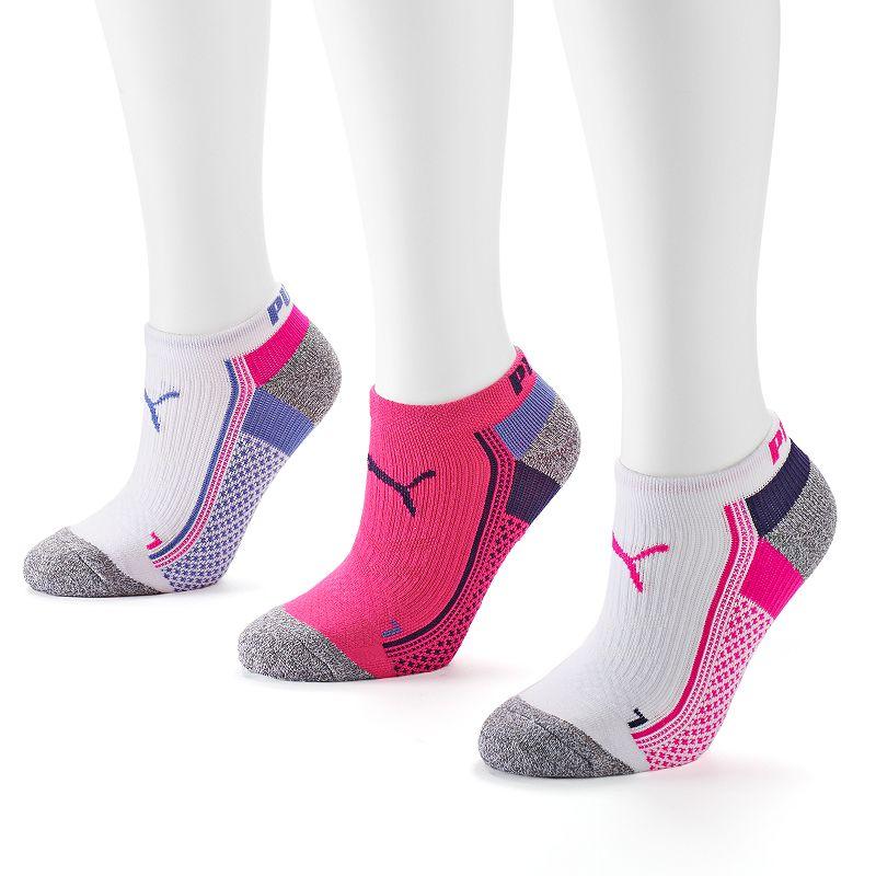 PUMA 3-pk. Neon Printed Low-Cut Socks - Women