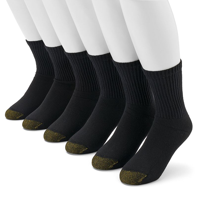 Men's GOLDTOE 6-pack Cushioned Short Crew Socks