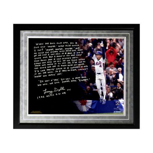 Steiner Sports New York Mets Lenny Dykstra 1986 NLCS Walk-Off Home Run Facsimile 16