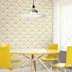 Beacon House Lola Yellow Ogee Bargello Wallpaper by