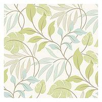 Beacon House Eden Green Modern Leaf Trail Wallpaper