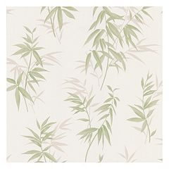 Brewster Home Fashions Oates Green Bamboo Leaf Texture Wallpaper by