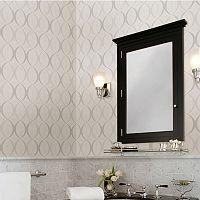 Brewster Home Fashions Rosten Gray Retro Orb Wallpaper