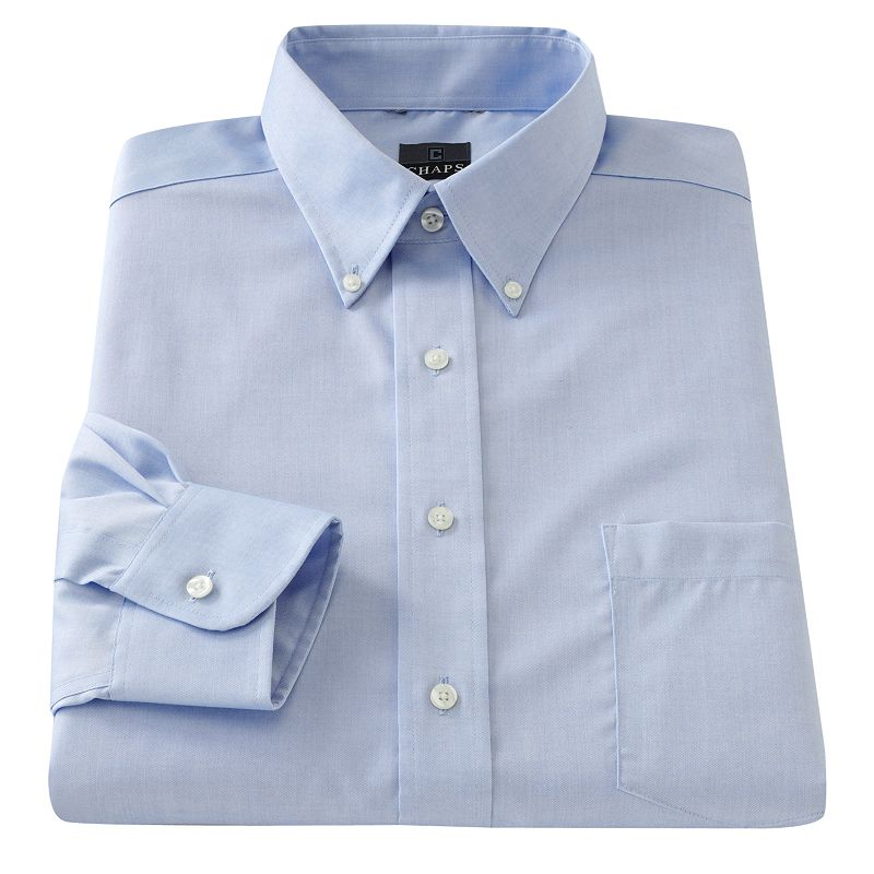 Big & Tall Chaps Classic-Fit Solid Non-Iron Button-Down Collar Dress Shirt