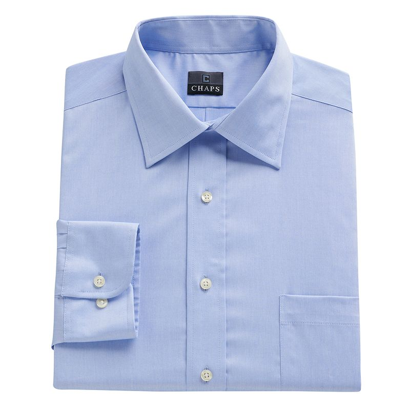 Big & Tall Chaps Classic-Fit Solid No-Iron Dress Shirt