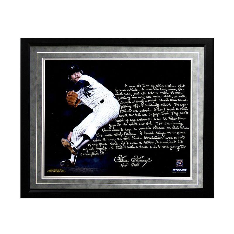 Steiner Sports New York Yankees Goose Gossage On Closing Facsimile 16