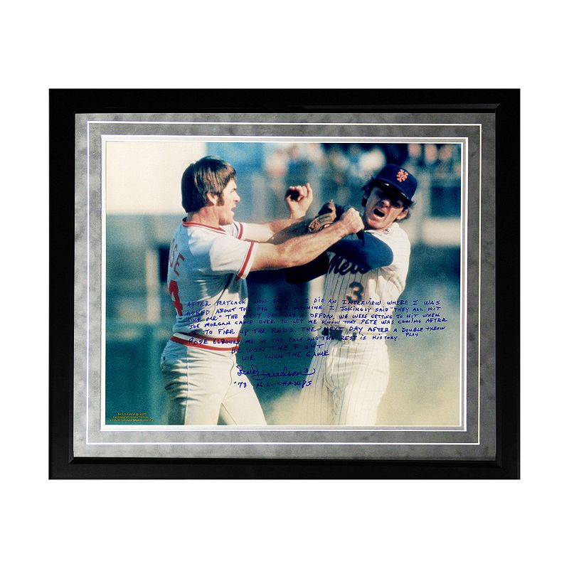 Steiner Sports New York Mets Bud Harrelson Fighting Rose Facsimile 16