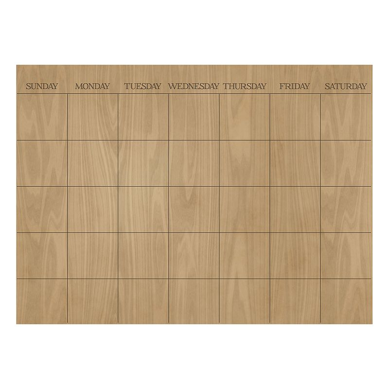 WallPops Hardwood Monthly Calendar Wall Decal