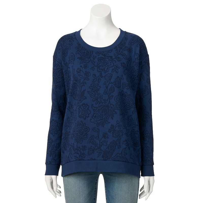 SONOMA Goods for Life™ Floral Crewneck Sweatshirt - Women's
