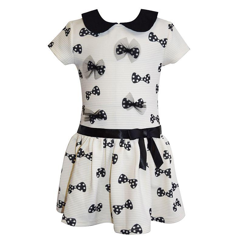 Blueberi Boulevard Polka-Dot Bow Dress - Girls 4-6x