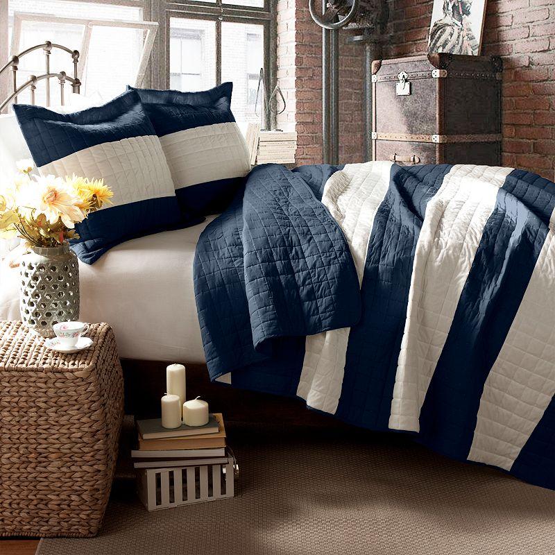 Lush Decor Berlin Stripe Reversible Quilt Set