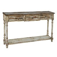 Pulaski Simon 3-Drawer Breakfront Console Table