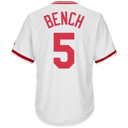 Women's Majestic Cincinnati Reds Johnny Bench Cooperstown Collection Cool Base Replica Jersey