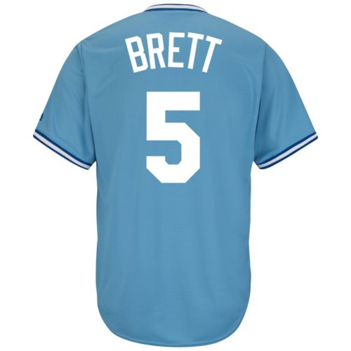 Men's Majestic Kansas City Royals George Brett Cooperstown Collection Cool Base Replica MLB Jersey