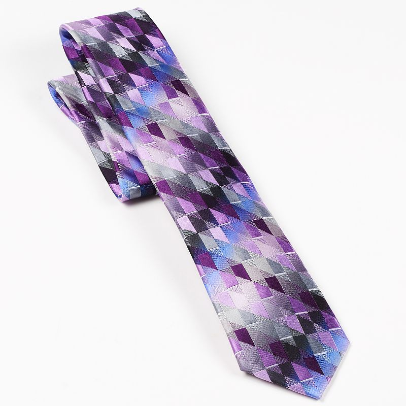 Van Heusen Northwest Geometric Plaid Tie - Men