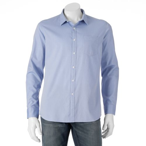 Men's Marc Anthony Slim-Fit Diamond Casual Button-Down Shirt