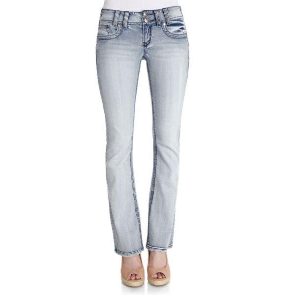 Juniors' Wallflower Ivy Curvy Bootcut Jeans