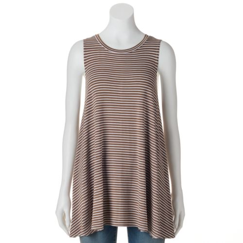 Women's Olivia Sky Striped Trapeze Top