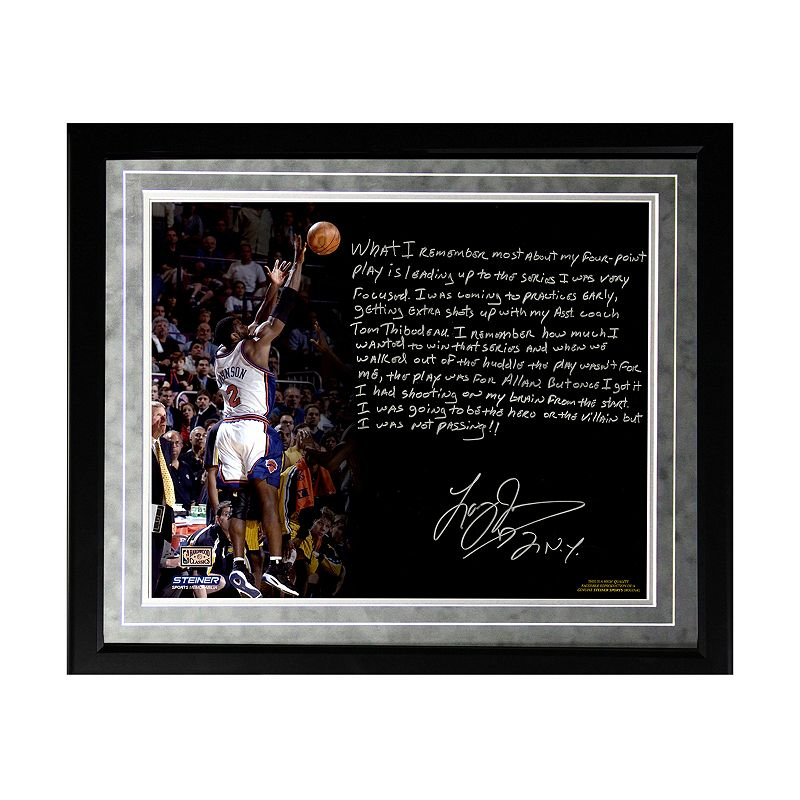 Steiner Sports New York Knicks Larry Johnson 4-Point Play Facsimile 16