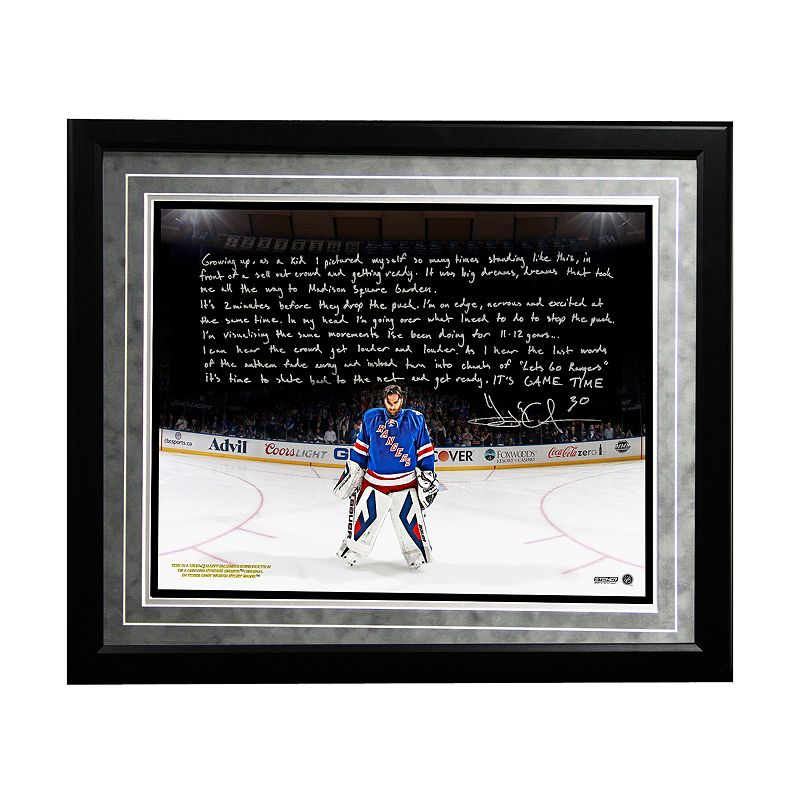 Steiner Sports New York Rangers Henrik Lundqvist Playing in the Garden Facsimile 16
