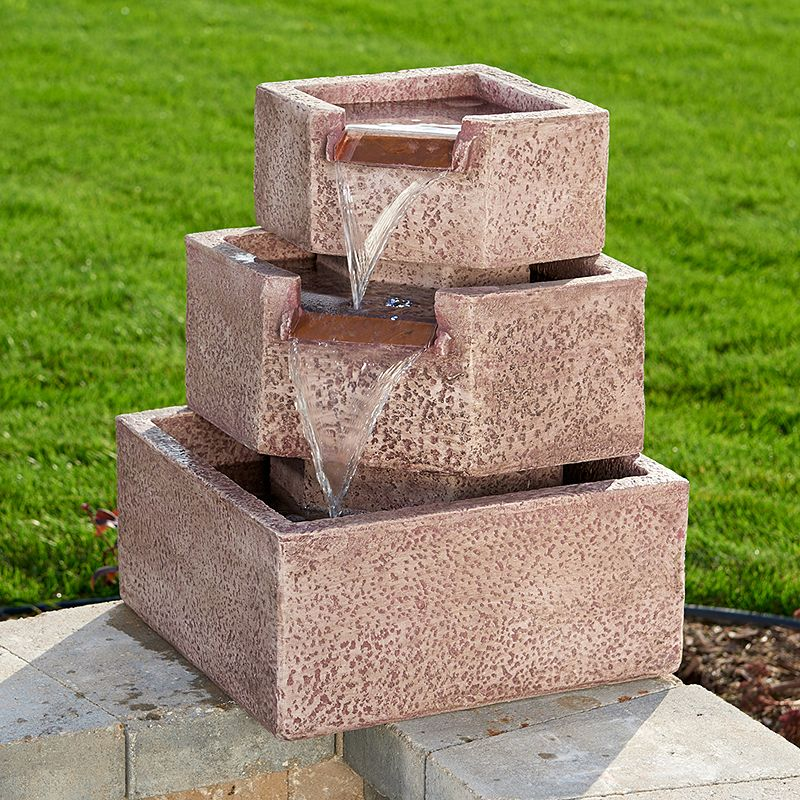Smart Garden Cascadia Falls Corner Step LED Fountain