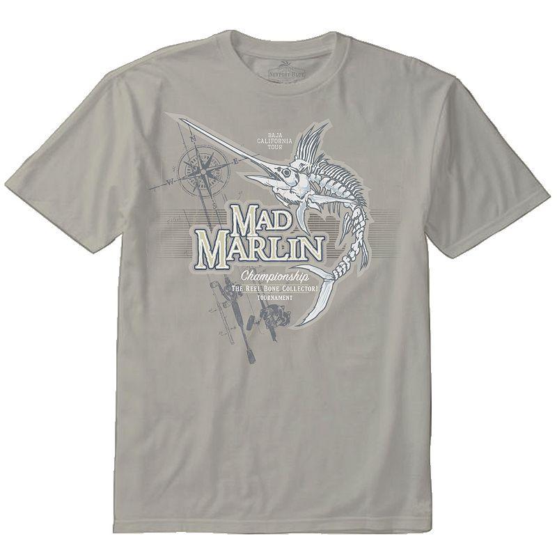 Men's Newport Blue Mad Marlin Tee