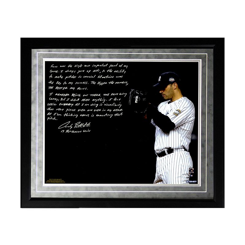 Steiner Sports New York Yankees Andy Pettitte Postseason Focus Facsimile 16